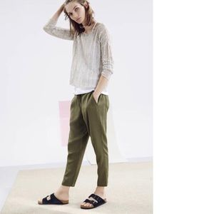 The Fisher Project Tencel Slouchy Ankle Pants